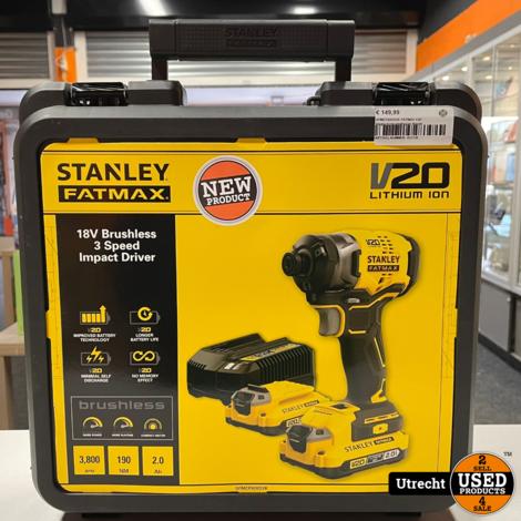 Stanley SFMCF820D2K FATMAX V20 Slagschroevendraaier Nieuw