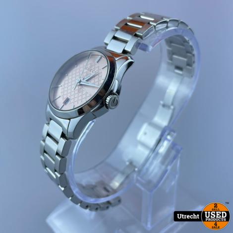 Gucci G Timeless Ref. 126.5 Pink Dames Horloge