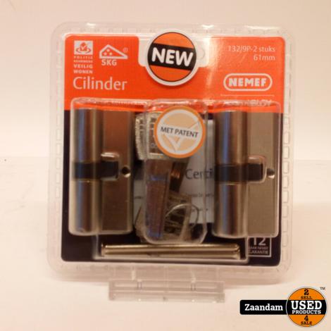NEMEF veiligheidscilinder 30/30 mm SKG 3-sterren   Nieuw