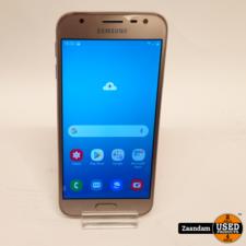 Samsung Samsung Galaxy J3 2017 16GB Goud   In nette staat