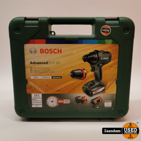Bosch AdvancedDrill 18 18V  boor-/schroefmachine set (1x 2,5Ah accu)   Nieuw