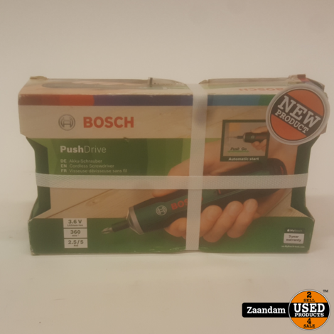 Bosch PushDrive Accu Schroevendraaier   Nieuw in seal