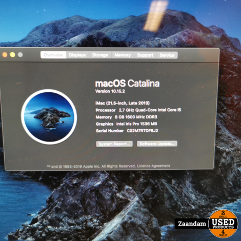 iMac 21.5 Inch 2013 | i5 8GB 1TB HDD | Incl. garantie