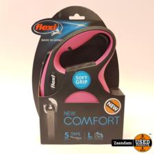 Flexi Flexi New Comfort Tape Hondenriem Roze | 5M | Nieuw