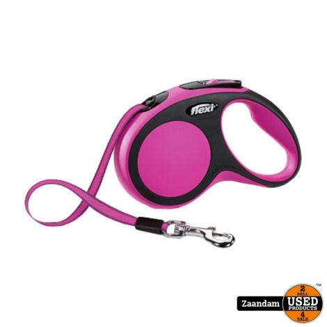 Flexi New Comfort Tape Hondenriem Roze | 5M | Nieuw