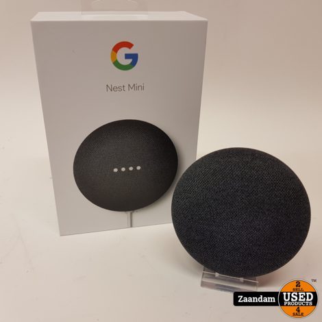 Google Nest Mini Grijs | Z.G.A.N. in doos