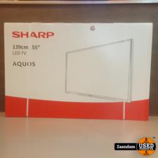 Sharp Sharp LC-55CUF8372ES Ultra HD 55 Inch Smart Televisie   Nieuw