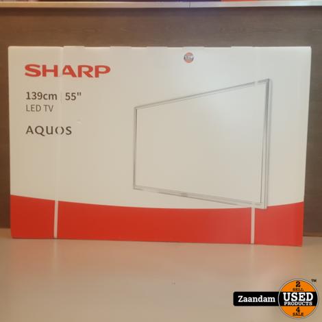 Sharp LC-55CUF8372ES Ultra HD 55 Inch Smart Televisie | Nieuw