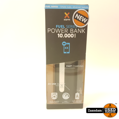Powerbank FS202 10.000Mah Zwart | Nieuw