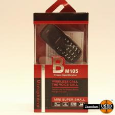 GTSTAR BM105 Dual Sim Mini Phone Zwart   ZGAN in doos