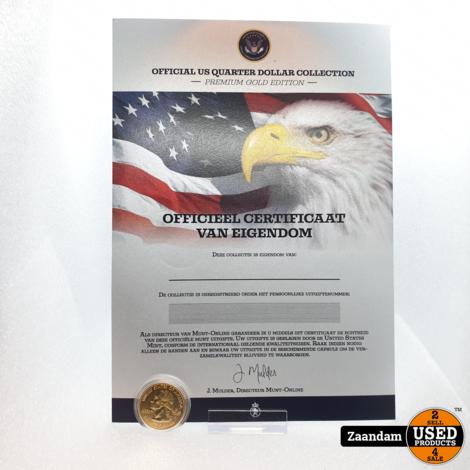 Verzamelaarsmunt: Official US Quarter Dollar Collection Premium Gold Edition | Nieuw