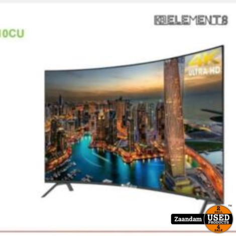 Elements ELT55DE910CU 55-Inch 4K Ultra HD Curved Smart Android Televisie | Nieuw in doos