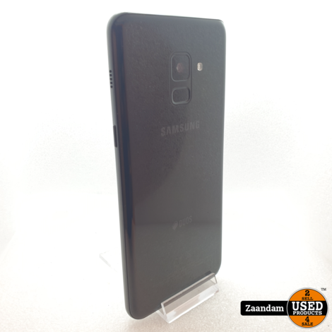 Samsung Galaxy A8 2018 32GB Dual Sim Zwart | In nette staat
