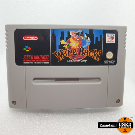 Super Nintendo Game: A Dinosaur's Story We are back
