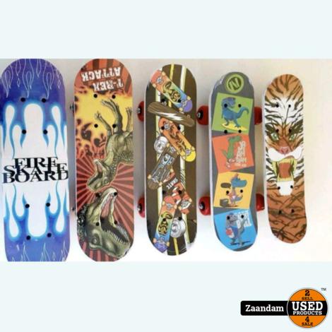 Mini Skateboard met opdruk   43x13   Nieuw