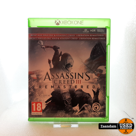 Xbox One Game: Assassins creed 3 Remastered