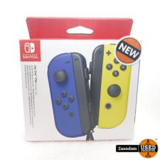 Nintendo Switch Joy-Con Controller Blauw en Neon Geel | Nieuw in doos