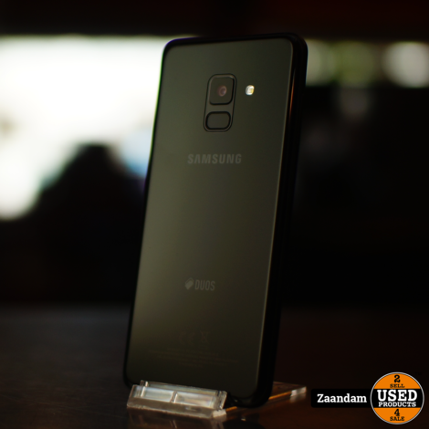 Samsung Galaxy A8 32GB Dual Sim Zwart   In nette staat