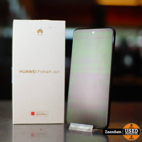 Huawei P Smart 2021 128GB Black   In nette staat