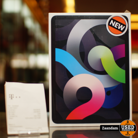 iPad Air 2020 (4TH Gen) WiFi + Cellular 64GB  Space Gray | Nieuw in seal + bon