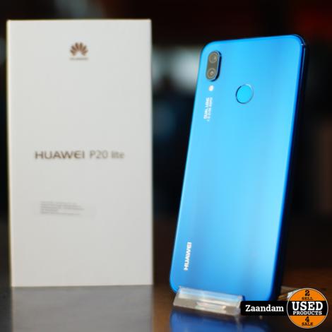 Huawei P20 Lite 64GB Blauw   Nette staat in doos