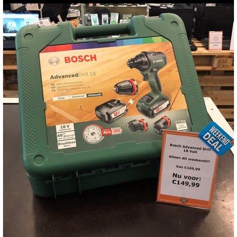 Bosch Advanced Drill   2 ACCU'S   18V Lithium-Ion-technologie   NIEUW   DAG DEAL
