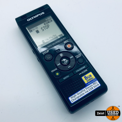 Olympus WS-853 | 8GB Portable Recorder | Nieuw Staat