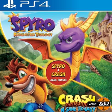 PS4   Crash Bandicoot N.Sane Trilogy & Spyro Reignited Double Pack Bundle