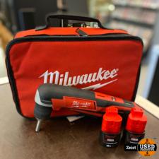 Milwaukee C12 RAD | Haakse boor-/schroefmachine | 2 Accu's