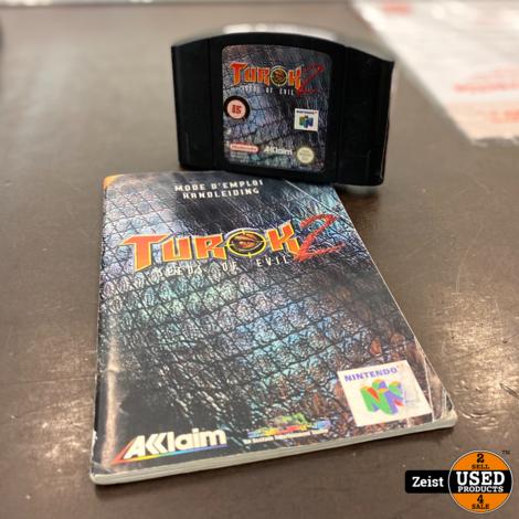 N64   Turok 2 + Boekje