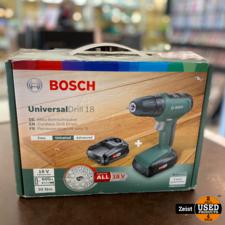 Bosch Universsal Drill 18 | 2 Accu's | Als-NIEUW