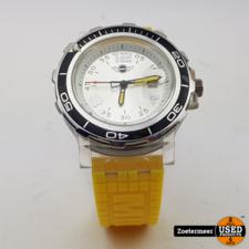 Mini horloge geel