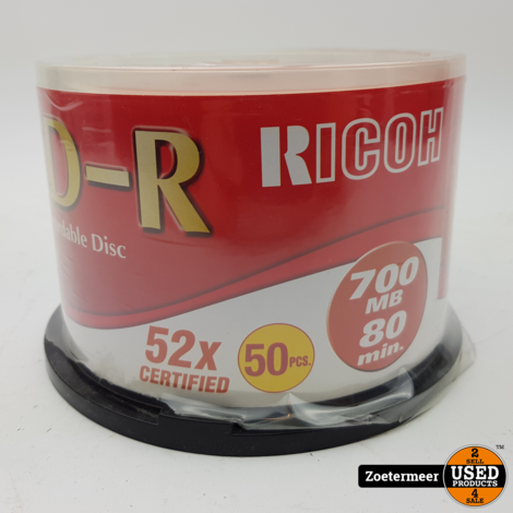 Ricoh CD-R 700MB (50x cd's)