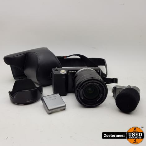 Sony Nex-5 Camera Incl. kitlens, microfoon & flitser