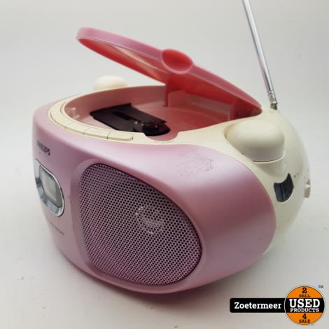 Philips AZ105C Portable CD speler roze