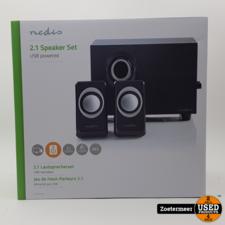 Nedis Nedis PC-speaker   2.1   33W   3.5mm jack NIEUW