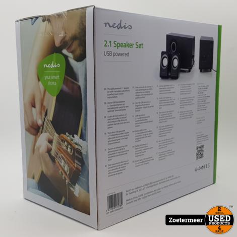Nedis PC-speaker   2.1   33W   3.5mm jack NIEUW