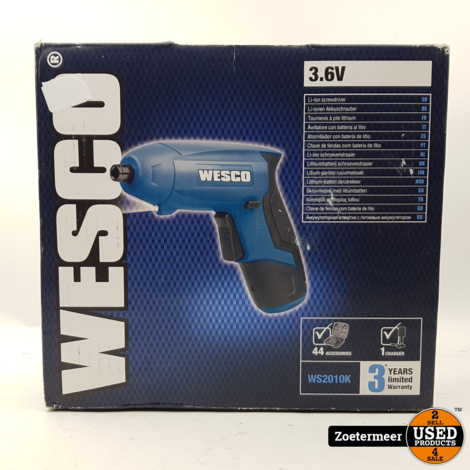 Wesco accuschroefmachine WS2010K NIEUW