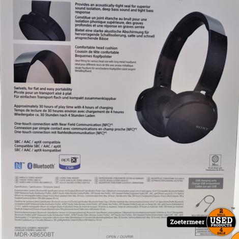 Sony MDR-XB650BT NIEUW