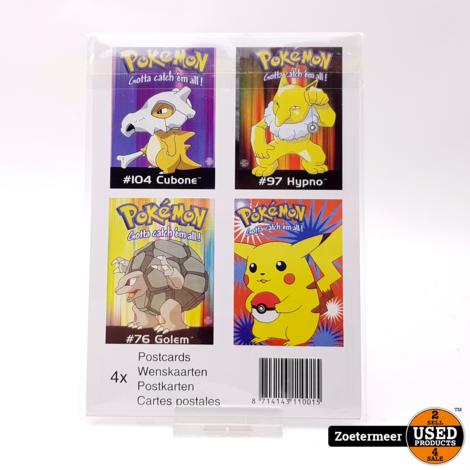 Pokémon originele verzamelkaarten (Pikachu, Hypno, Golem, Cubone)
