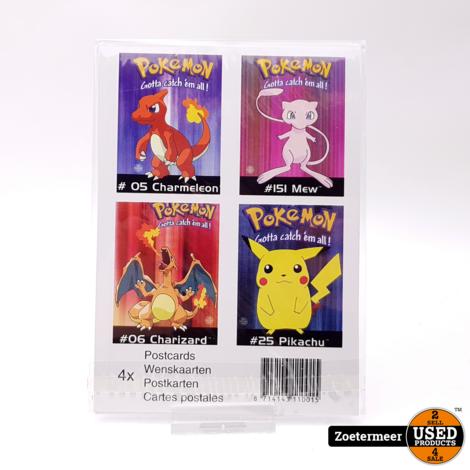Pokémon originele verzamelkaarten (Charmeleon, Mew, Charizard, pikachu)