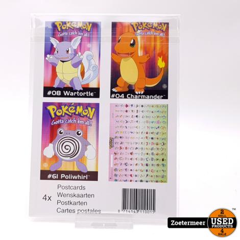 Pokémon originele verzamelkaarten (Poliwhirl, Wartotle, Charmander, verzamelkaart)
