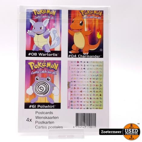 Pokémon originele verzamelkaarten (Wartotle, Charmander, Poliwhirl, verzamelkaart)