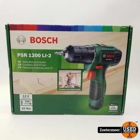 Bosch PSR 1200 Li accu boor NIEUW