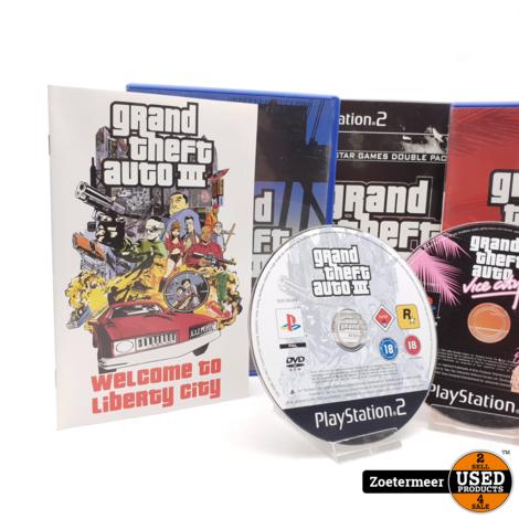 Grand Theft Auto 3 en Vice City Double Pack ps2
