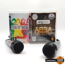 Singstar microfoons + Disney's Sing It & Singstar ABBA