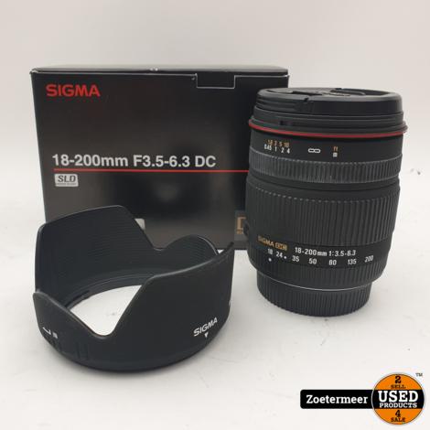 Sigma 18-200mm F3.5-6.3 voor Nikon