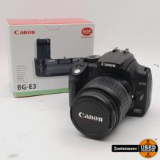 Canon Canon EOS 350D + 18-55mm 3.5/5.6 mII (Incl. BG-E3 Battery Grip)