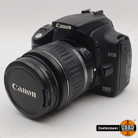 Canon EOS 350D + 18-55mm 3.5/5.6 mII (Incl. BG-E3 Battery Grip)