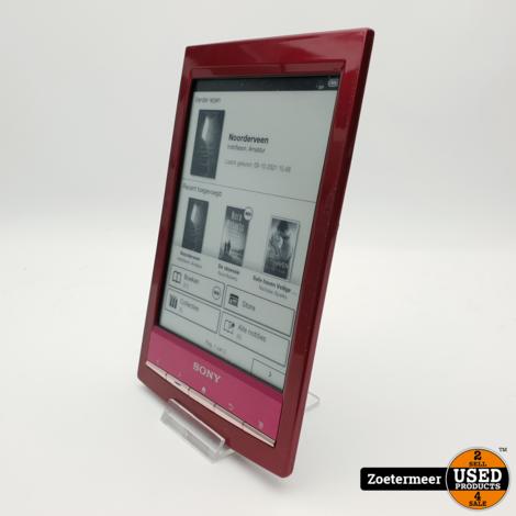 Sony PRS-T1 e-reader Bordeaux Rood